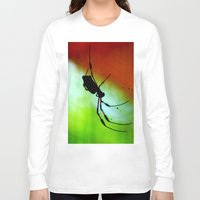 spider Long Sleeve T-shirts featuring spider by lennyfdzz
