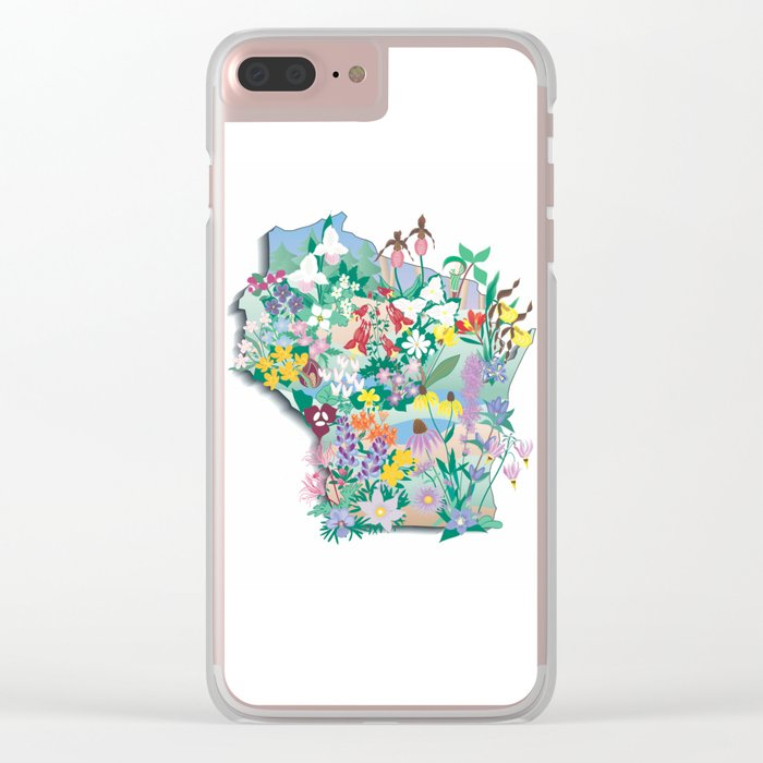 Wisconsin Wildflowers Clear iPhone Case