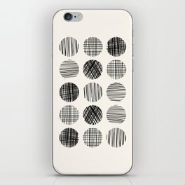 Abstract Line Work Circles iPhone Skin