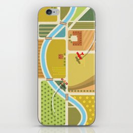 from above in the skies of Picardy iPhone Skin