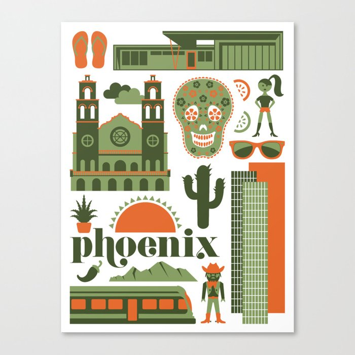Phoenix in Sage Canvas Print