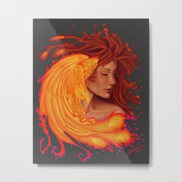One with the Phoenix Metal Print