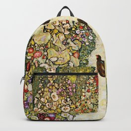 Gustav Klimt Garden Path With Chickens Backpack