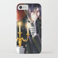 kuroshitsuji iPhone & iPod Cases featuring Goodnight and Sweet Dreams by Cielo+