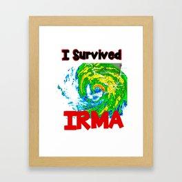 I Survived Hurricane Irma Framed Art Print