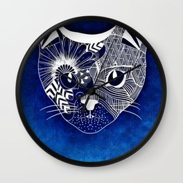 Tribal Cat Wall Clock
