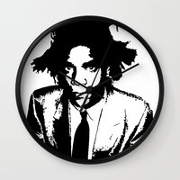 basquiat Wall Clocks featuring BASQUIAT by KING