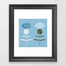 MCM Basket Flower Blue Framed Art Print