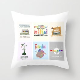 Designers United - All Six Designs Throw Pillow
