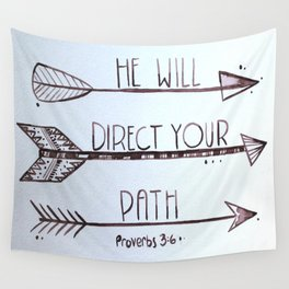 Proverbs 3:6 Wall Tapestry