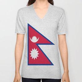 Flag of Nepal Unisex V-Neck