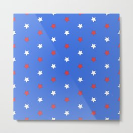Stars on blue Metal Print