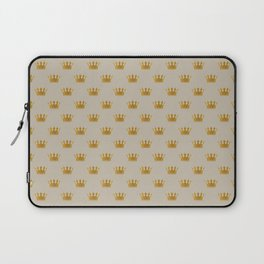 Mini George Grey with Gold Crowns Laptop Sleeve
