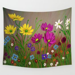 Spring Wild flowers  Wall Tapestry