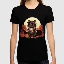 Cowboy Cat Illustration T-shirt