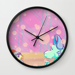 Bubble Bath Dragon Clock Wall Clock