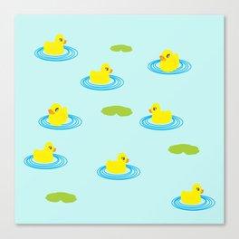 Rubber Ducks Pattern Canvas Print