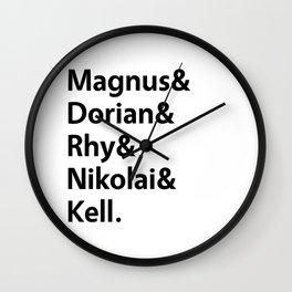 Book Princes White Wall Clock