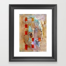abstract in beige Framed Art Print