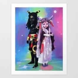 Umbre and Eifie Art Print