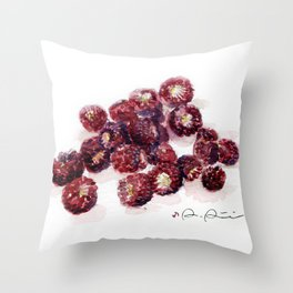 Backyard Berries Throw Pillow