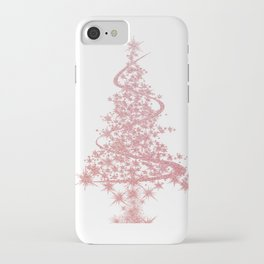 Christmas Tree Pink Snowflakes iPhone Case