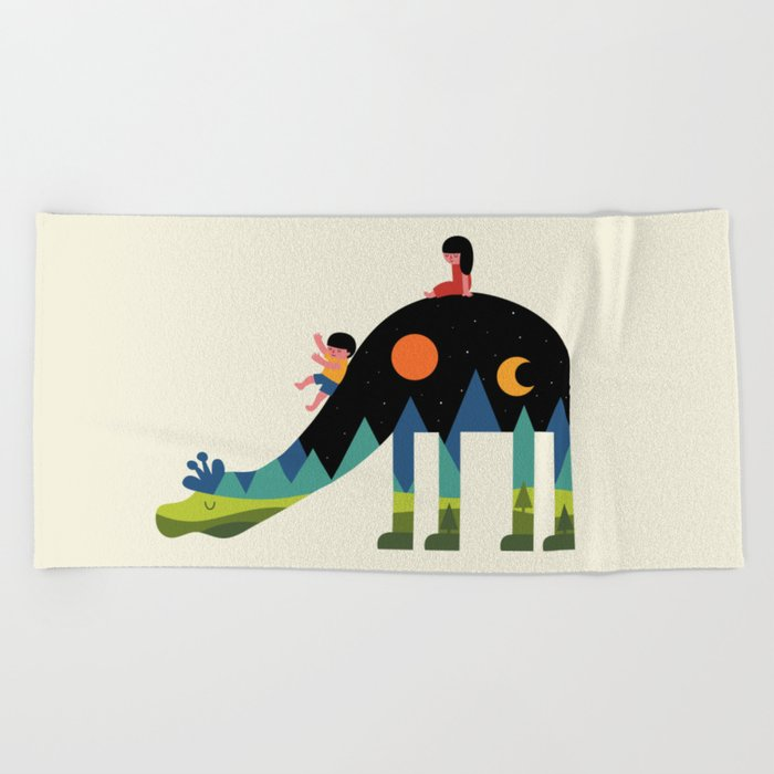 Up And Down Beach Towel
