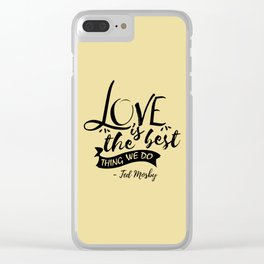 Here's the secret, kids [HIMYM] Clear iPhone Case