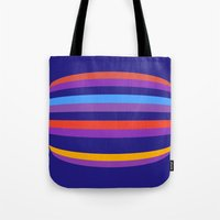 hamburger Tote Bags featuring Abstract Hamburger by Betty Mackey