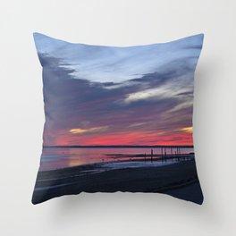 Magic Summer Sunset on the West Coast of DENMARK Throw Pillow