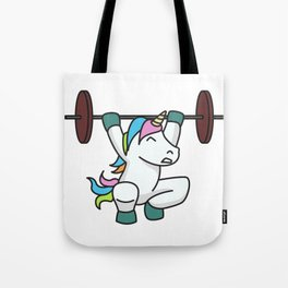 Weightlifting Unicorn fitness gift idea gym weight Tote Bag