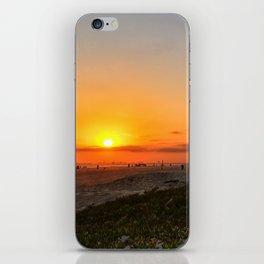 sunset beach CA iPhone Skin