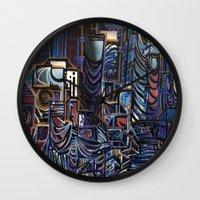 las vegas Wall Clocks featuring Vegas by Taylor deVille