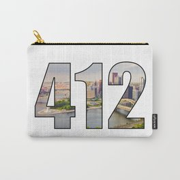 412 (Pittsburgh Area Code) Carry-All Pouch