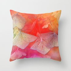 Withered hydrangea Throw Pillow