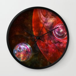 Spheres of Fire Wall Clock