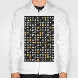 Full Moon Gold Binary Pattern Hoody