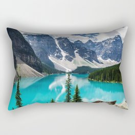 Lake Moraine Banff Rectangular Pillow