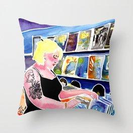 Hello Darlin' Records Throw Pillow