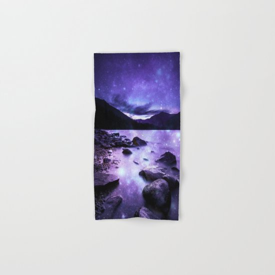 Magical Mountain Lake Purple Hand & Bath Towel