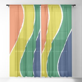 Curving Rainbow Sheer Curtain