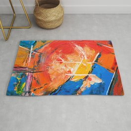 Abstract Expressionism Pastel Painting Ultra HD Rug