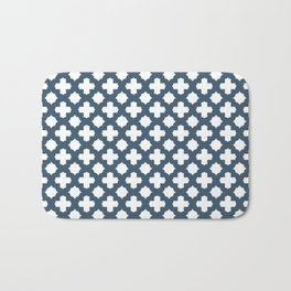 Dusky Blue Stars & Crosses Pattern Bath Mat