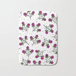 Rose Sprig Pattern Bath Mat