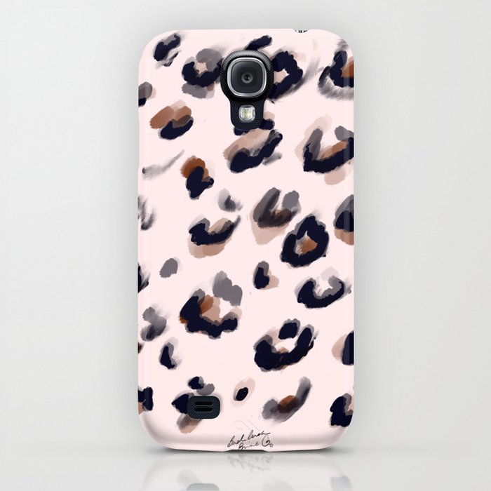 Blush and Leopard Print iPhone Case