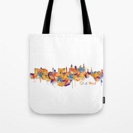 Las Vegas Watercolor Skyline Tote Bag