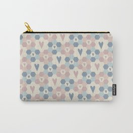 Hexagon Flowers Carry-All Pouch