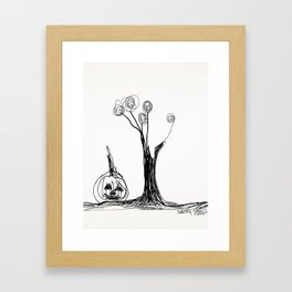 the pumpkin & the tree Framed Art Print