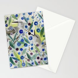Mockingbirds in the Blueberries Stationery Cards