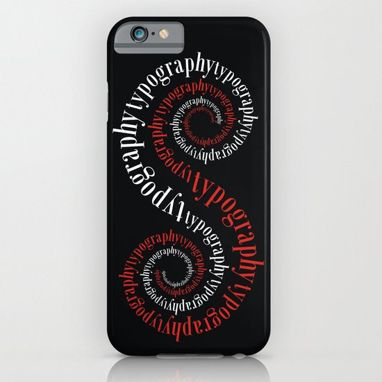 Typography iPhone & iPod Case